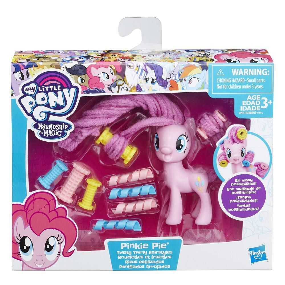 Boneca My Little Pony Pinkie Pie Com Acessorios Penteados Arrojados B9618 - Hasbro B8809