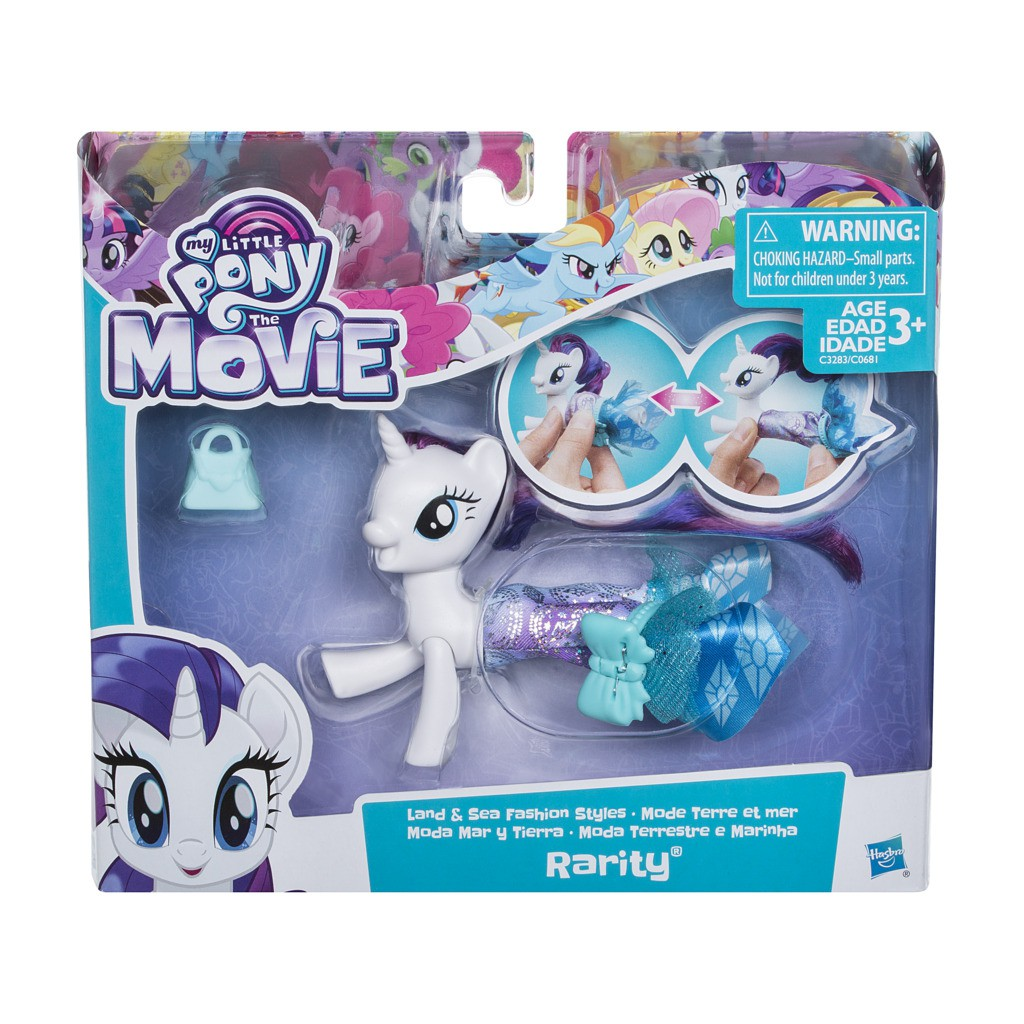 Boneca My Little Pony Rarity Vestido Magico C3283 - Hasbro
