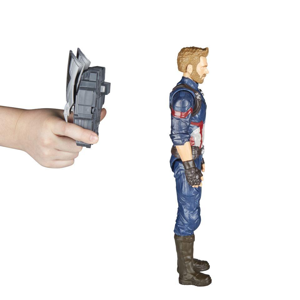 Boneco Capitão América Avengers Guerra Infinita Com Dispositivo Power FX E0607 - Hasbro