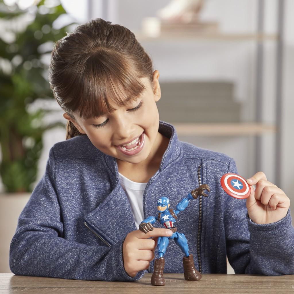 Boneco Bend And Flex Avengers Capitao America E7869 E7377 - Hasbro