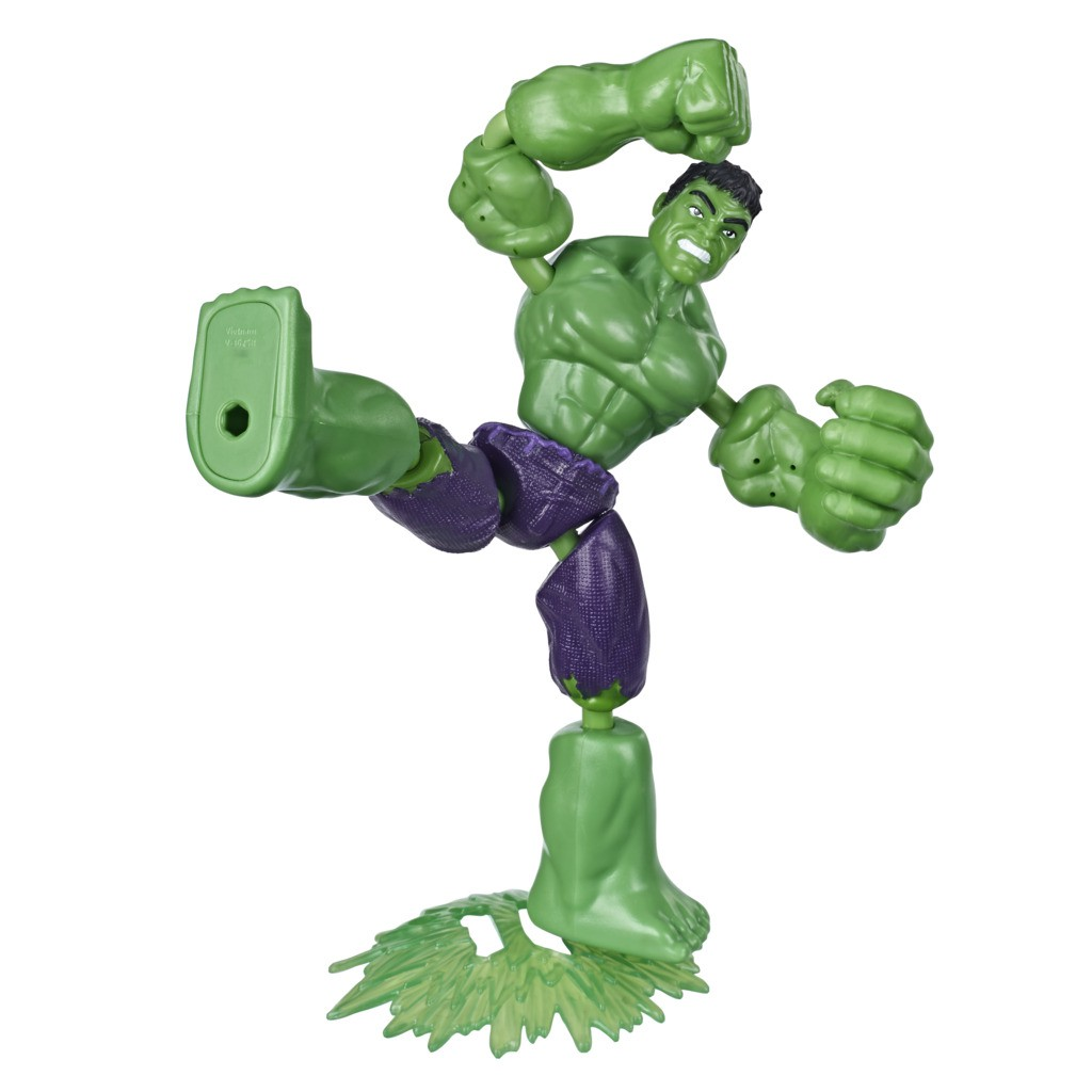 Boneco Bend And Flex Hulk e Homem de Ferro E7377 - Hasbro