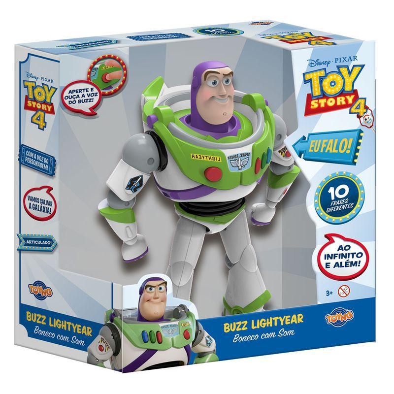 Boneco Toy Story - Buzz Lightyear - Com Falas em Portugues - 38169 - Toyng
