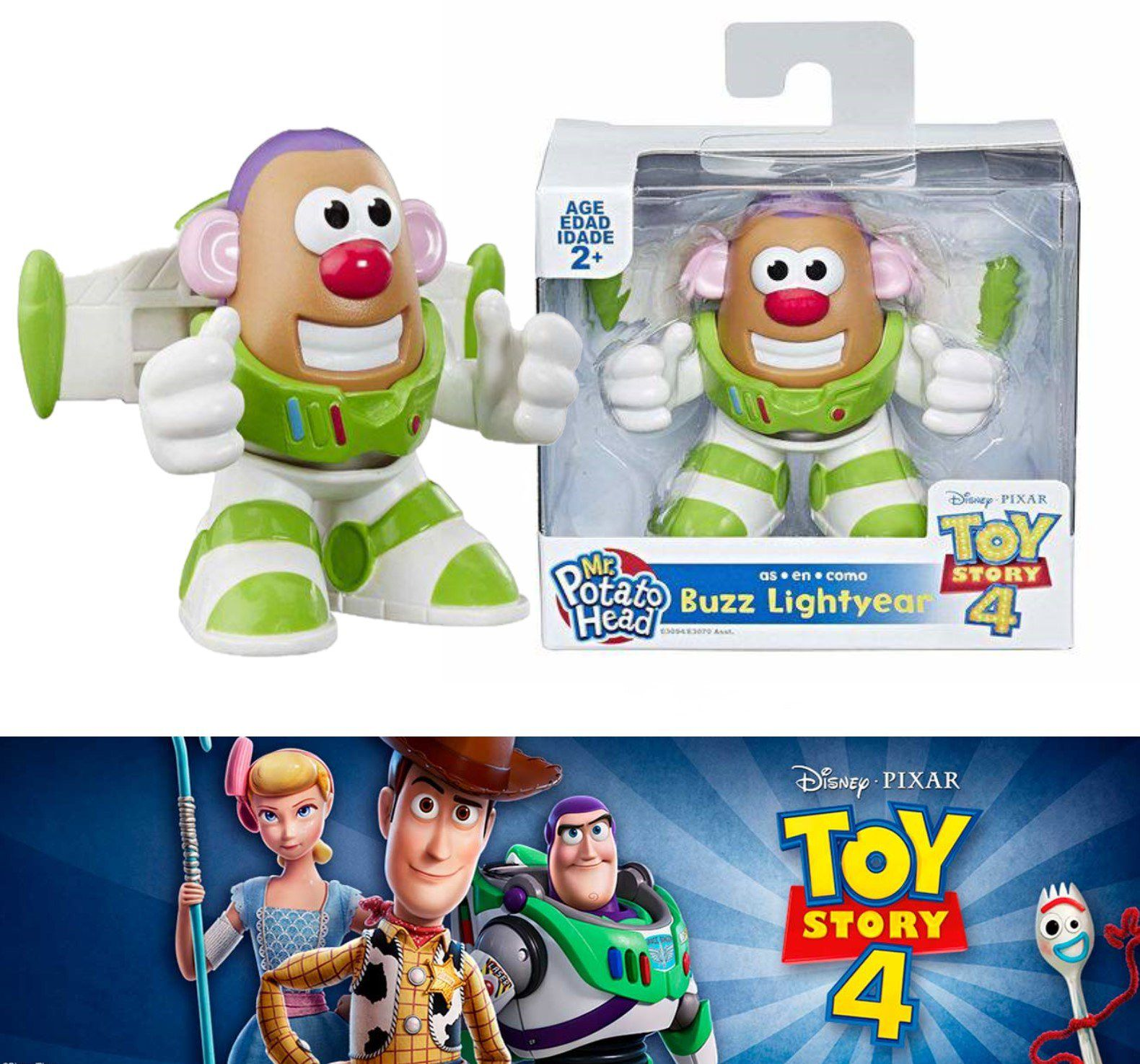 Boneco Buzz Lightyear - Toy Story 4 - Mr Potato Head como Buzz Lightyear E3094 - Hasbro