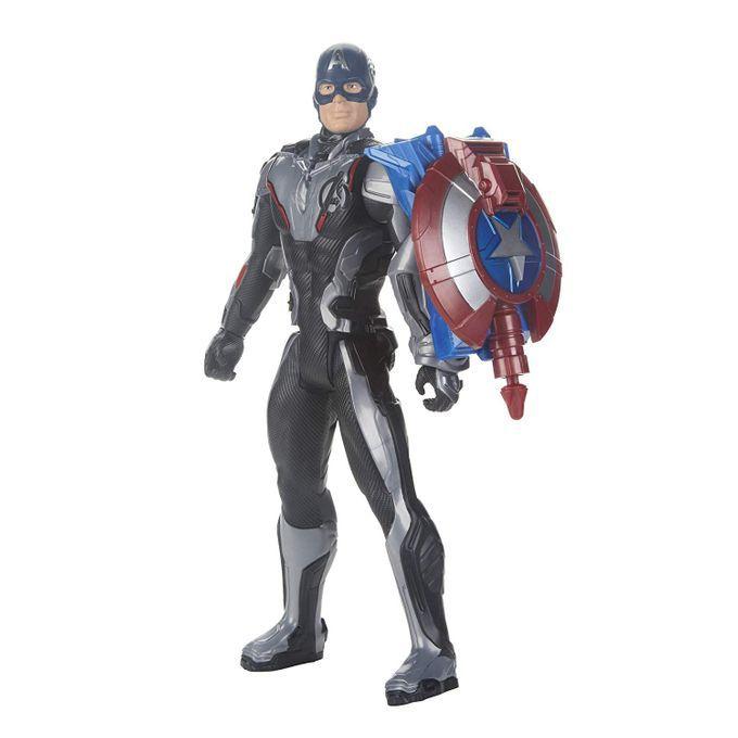 Boneco Capitão América 30 Cm Titan Hero com Dispositivo Power FX E3301 - Hasbro
