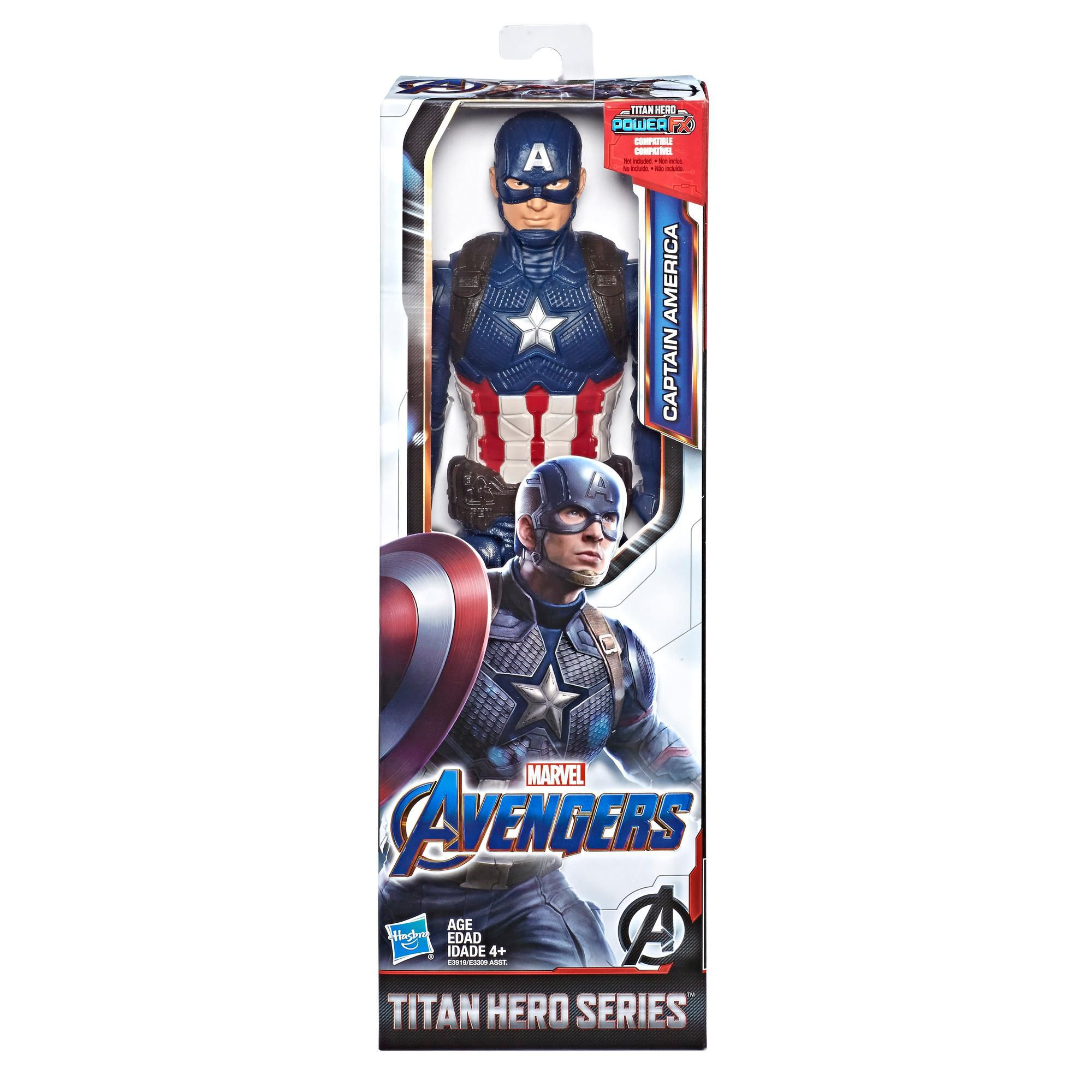 Boneco Capitão America 30 cm Avengers Vingadores 4 Ultimato E3919 - Hasbro
