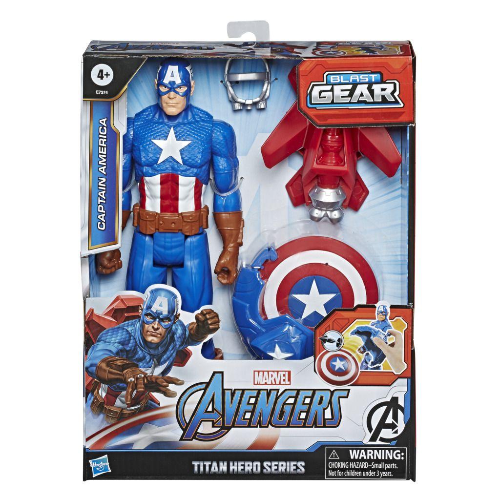 Boneco Capitao America Titan Hero Blast Gear E7374 - Hasbro