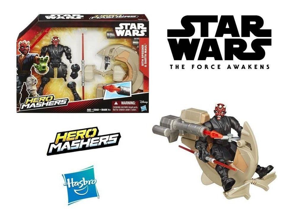 Boneco Darth Maul e Sith Speeder - Star Wars Hero Mashers B3832 - Hasbro B3831