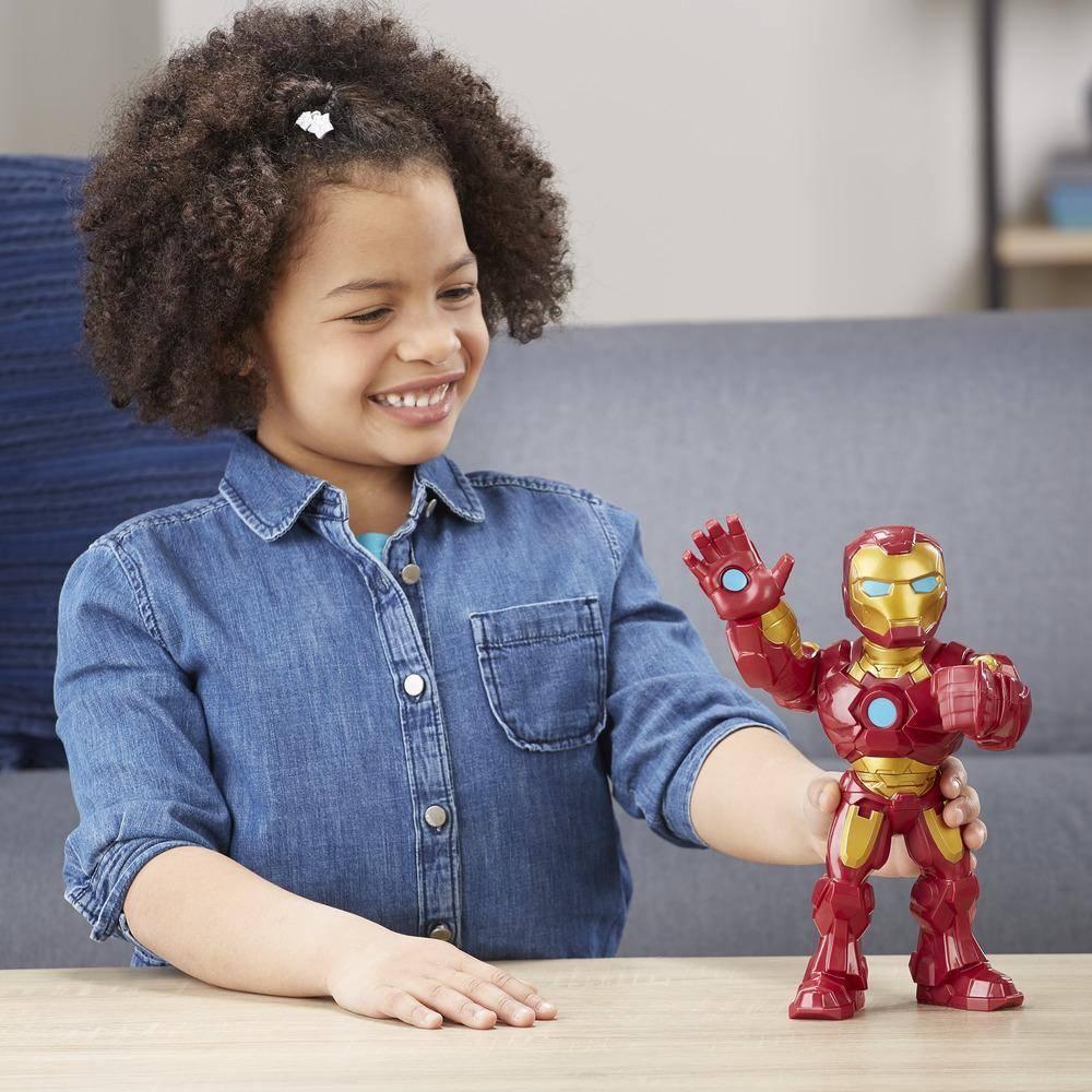 Boneco Homem de Ferro Mega Mighties Playskool Heroes Marvel Super Hero Adventures E4150 E4132 - Hasbro
