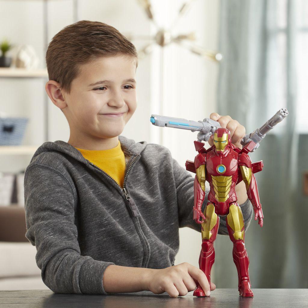 Boneco Homem de Ferro Titan Hero Blast Gear E7380 - Hasbro