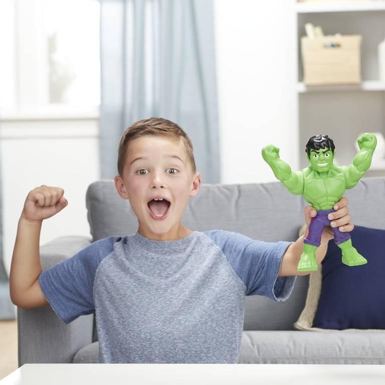 Boneco Hulk Mega Mighties Playskool Heroes Marvel Super Hero Adventures E4149 E4132 - Hasbro