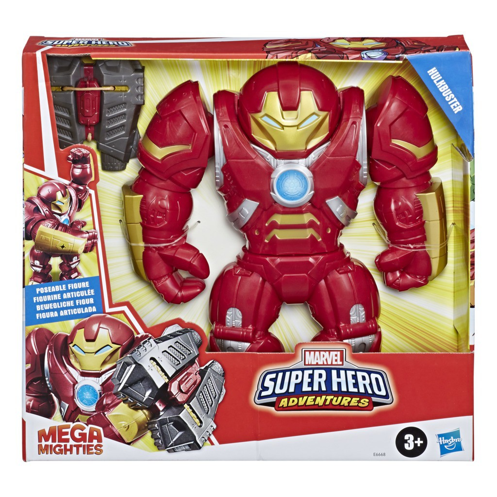 Boneco Hulkbuster Mega Mighties Super Hero E6668 - Hasbro