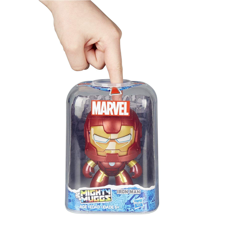 Boneco Iron Man - Homem de Ferro - Mighty Muggs Marvel  E2203 / E2122 - Hasbro
