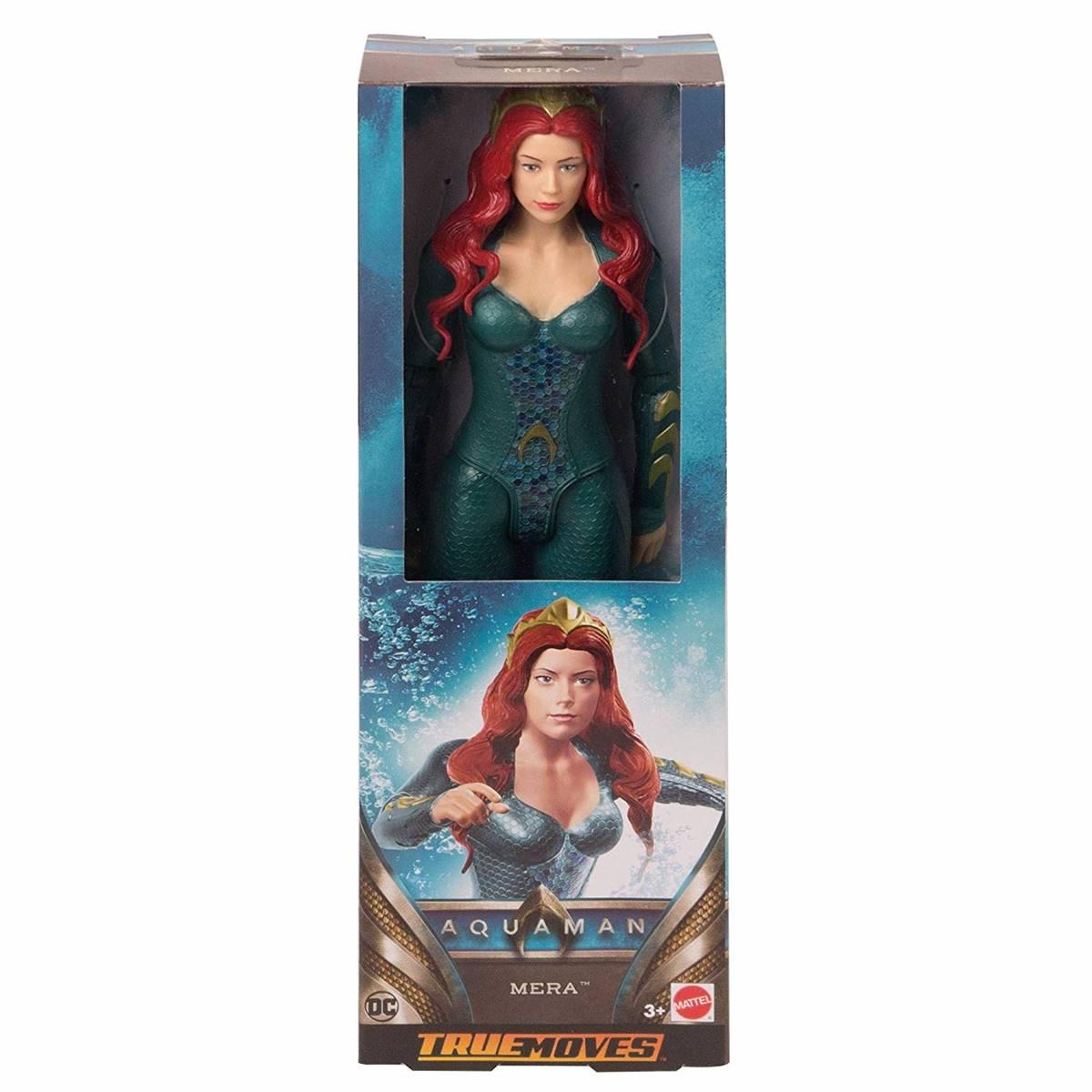 Boneco Mera 30 cm True Moves Aquaman- Mattel