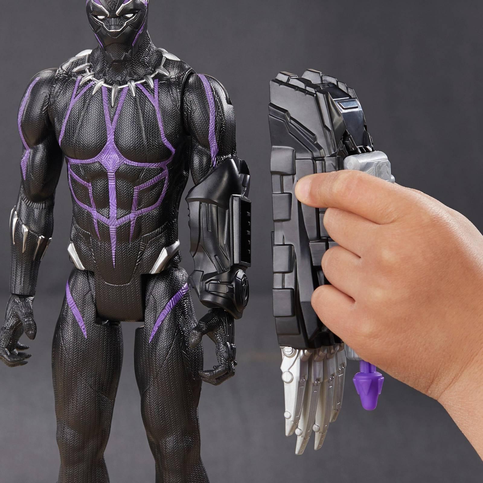 Boneco Pantera Negra 30 Cm Titan Hero com Dispositivo Power FX E3306 - Hasbro