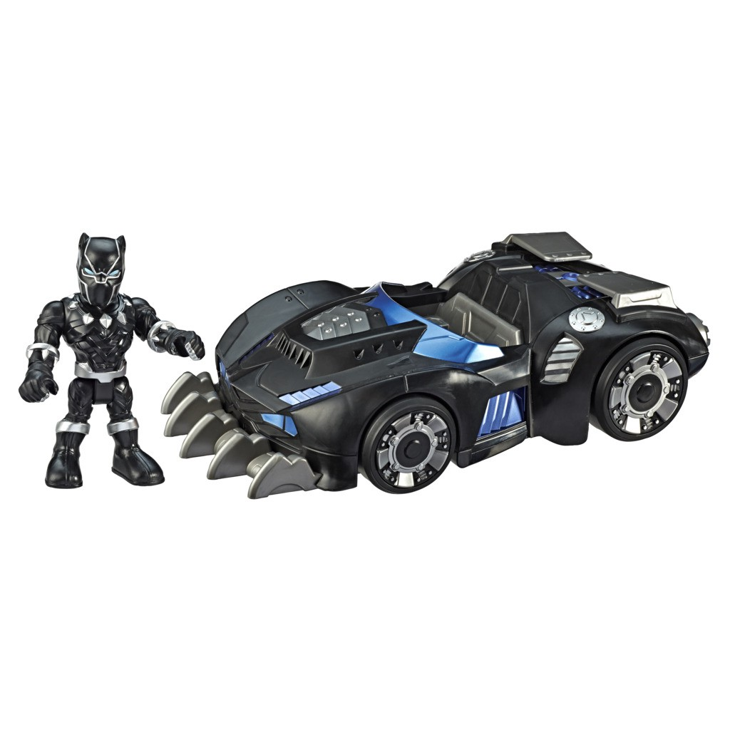 Boneco Pantera Negra Com Carro Felino Super Hero E6256 - Hasbro