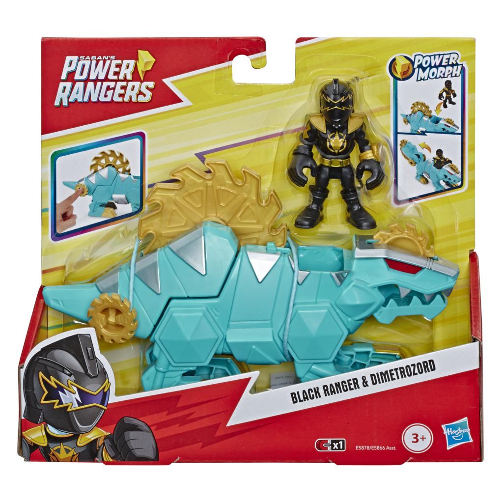 Boneco Power Ranger Preto e Dimetrozord E5878 E5866 - Hasbro