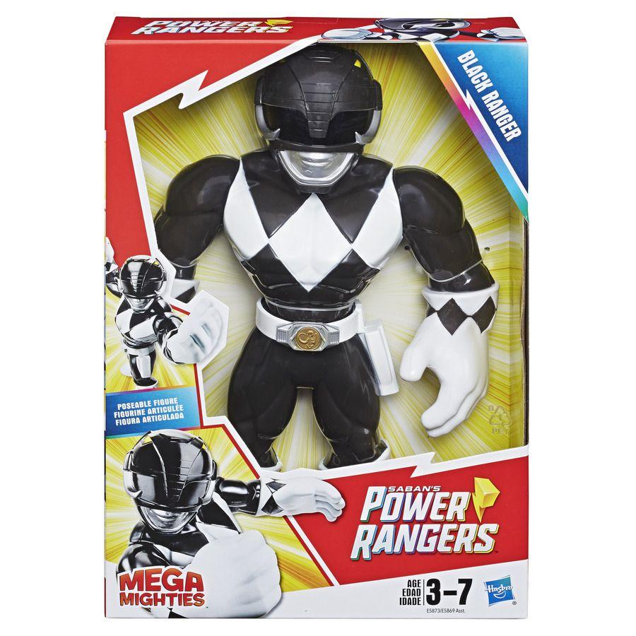 Boneco Power Ranger Preto Mega Mighties Playskool Heroes E5873 E5869 - Hasbro