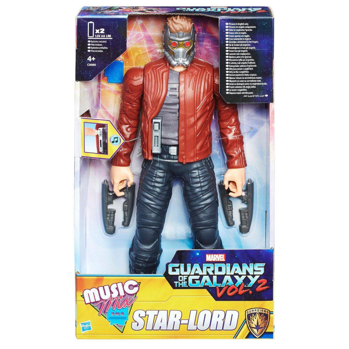 Boneco Star Lord Eletrônico Music Mix - Guardiões da Galaxia  C0080 - Hasbro