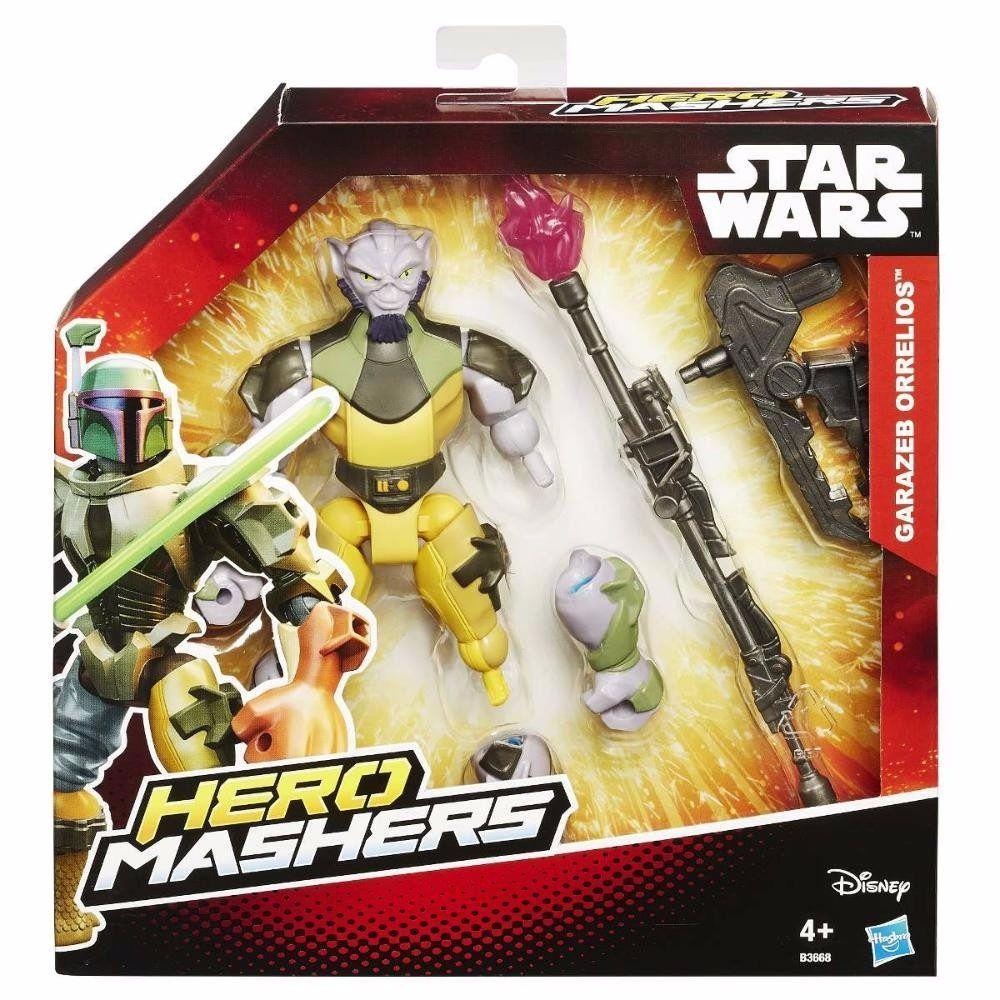 Boneco Star Wars Hero Mashers Deluxe Episódio VII - Garazeb Orrelios - Hasbro