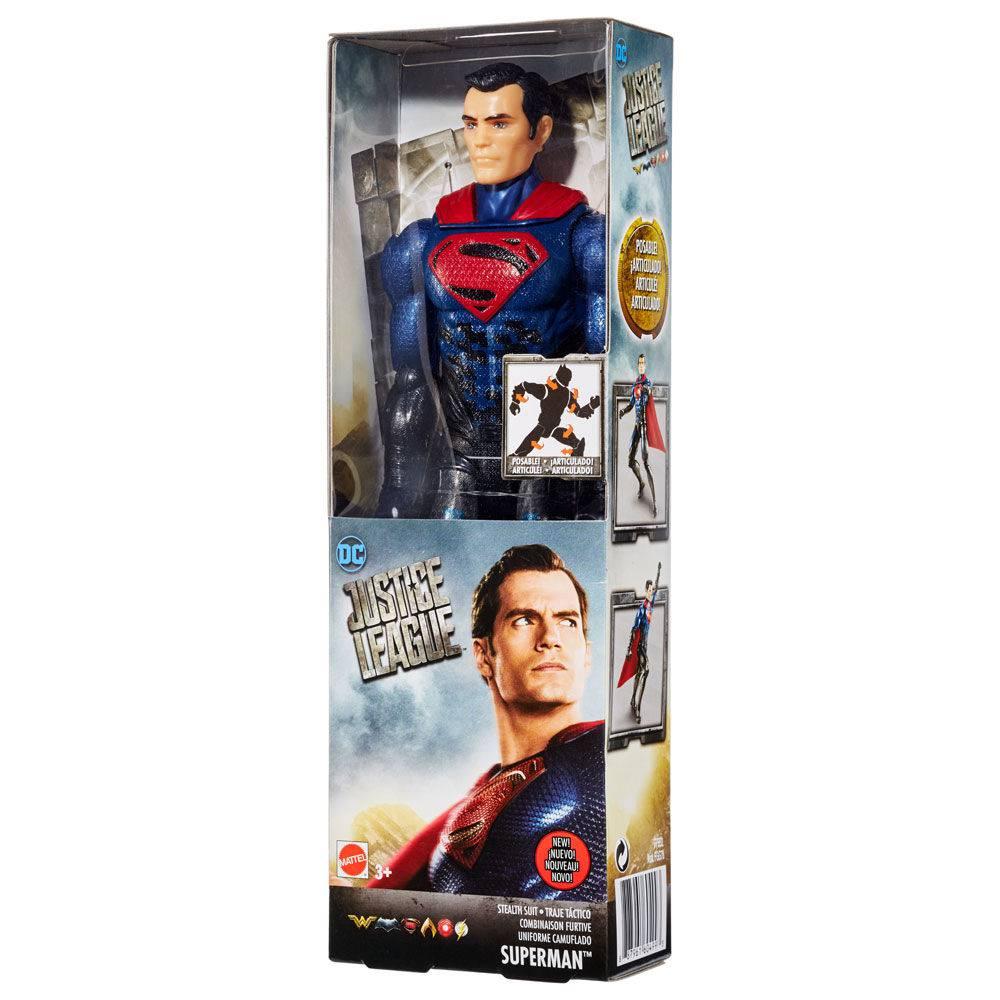 Boneco Superman Uniforme Camuflado Liga da Justiça 30 cm - Mattel