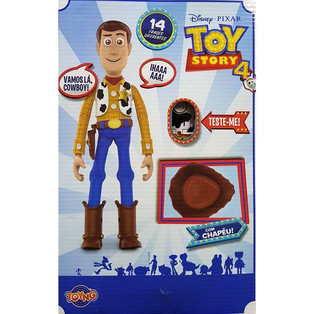 Boneco Toy Story - Xerife Woody - Com Falas em Portugues -  38191 - Toyng