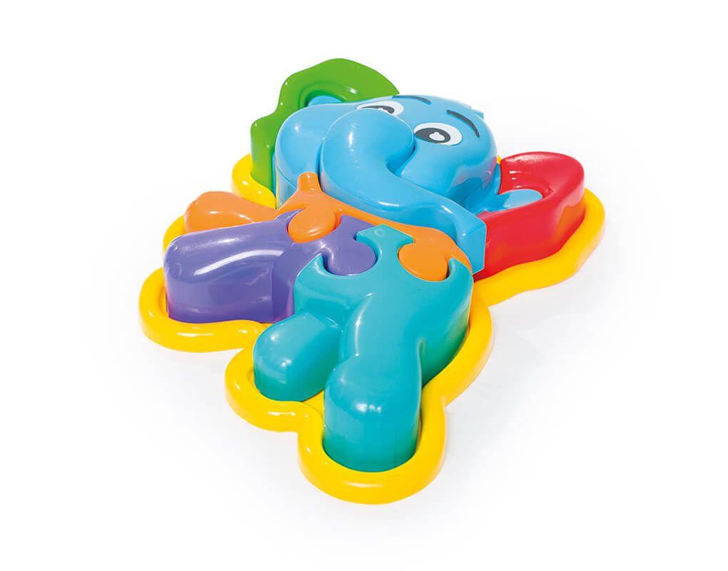 Brinquedo Educativo Puzzle Infantil 3D Animal Elefante - Calesita