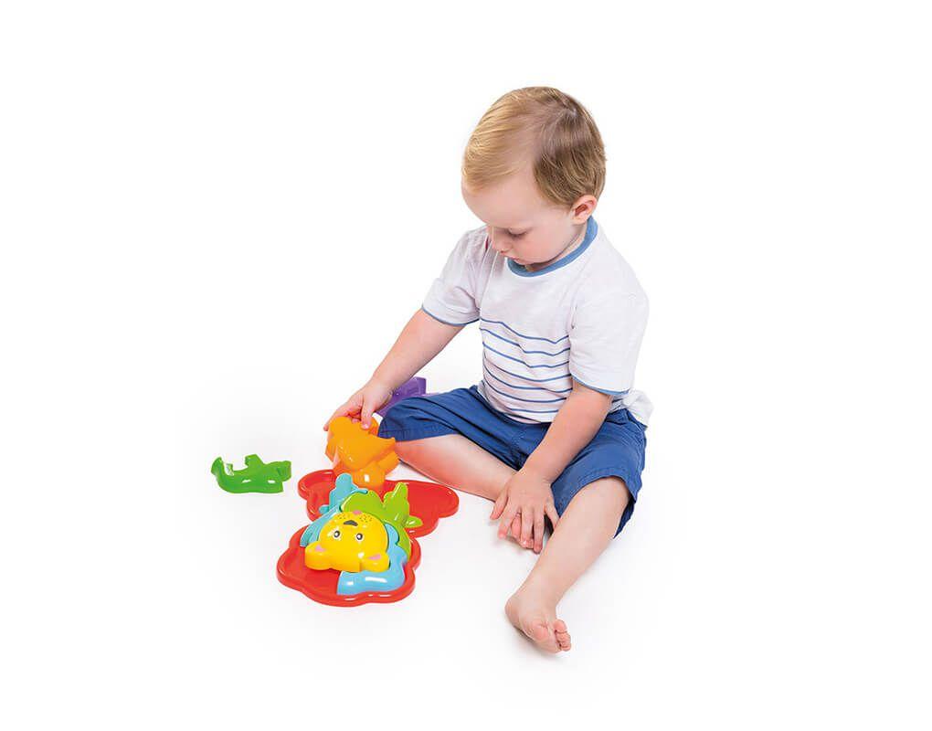 Brinquedo Educativo Puzzle Infantil 3D Animal Leão - Calesita