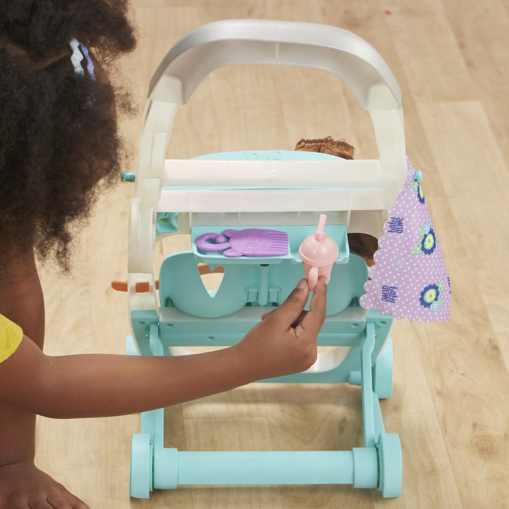 Carrinho de Boneca Com Baby Alive Littles Morena E7183 E6703 - Hasbro