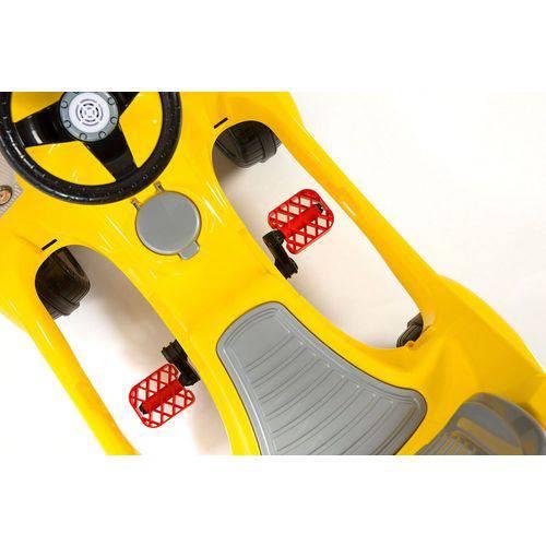 Carrinho de Passeio Com Empurrador Fouks Amarelo - Calesita