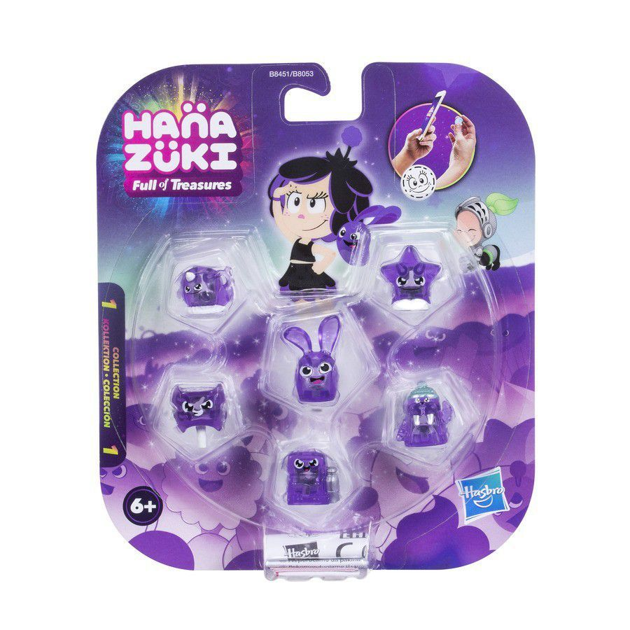 Hanazuki 6 Tesouros do Humor Roxo Corajoso  - Hasbro