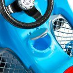 Carrinho de Passeio Com Empurrador Fouks Azul - Calesita