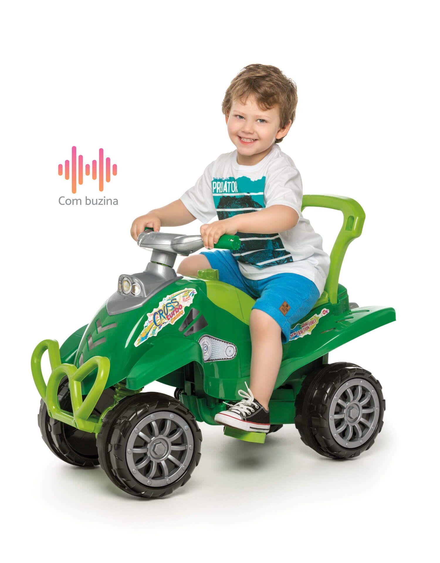 Cross Turbo Calesita Verde - Carrinho de Passeio Infantil Com Alça de Proteção