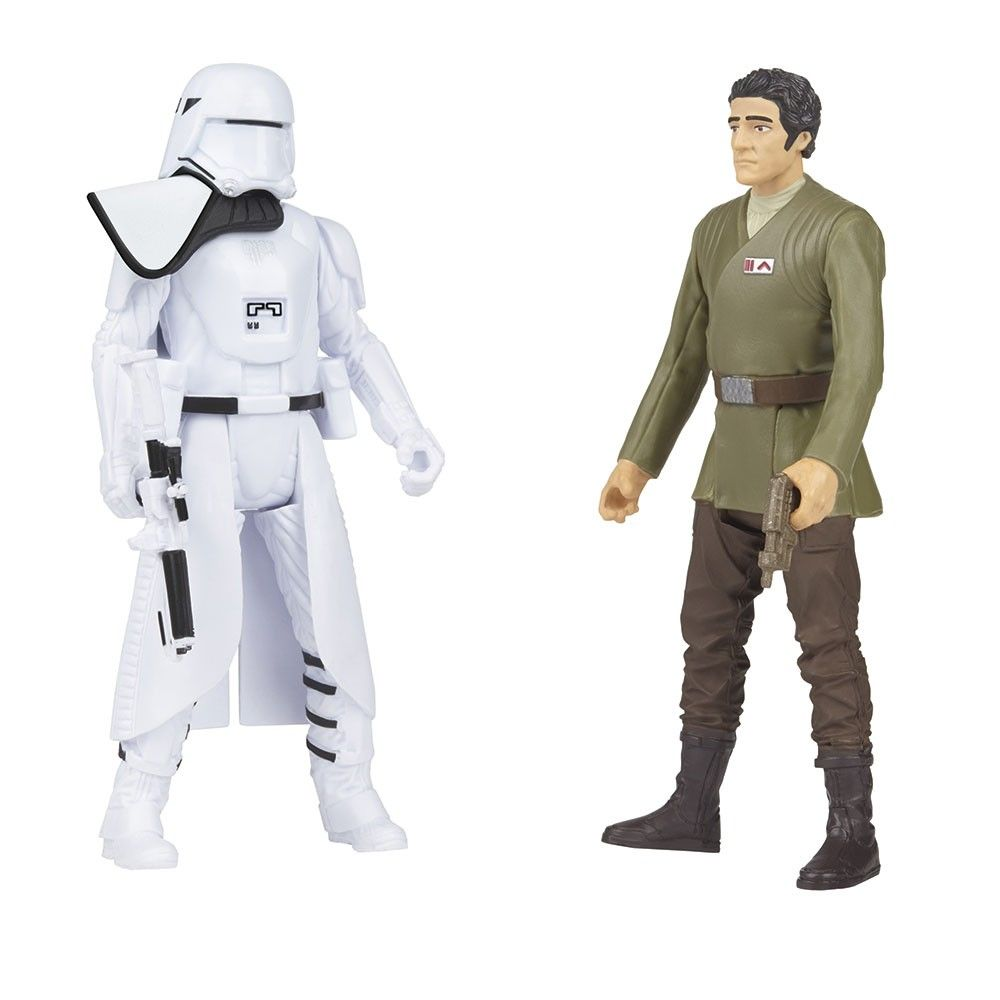 Boneco Star Wars Snowtrooper Officer And Poe Dameron - Hasbro