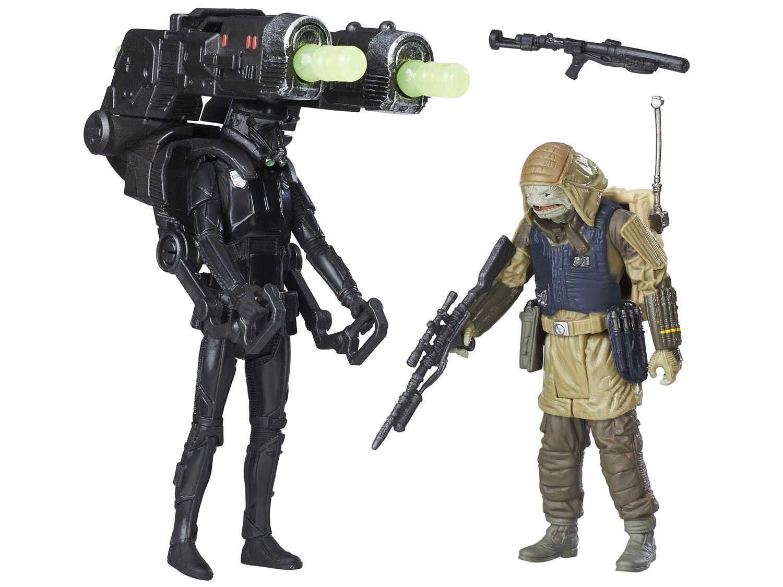 "Star Wars Figuras 3.7"" com Acessórios - Death Trooper e Rebel Commando Pao - Hasbro"