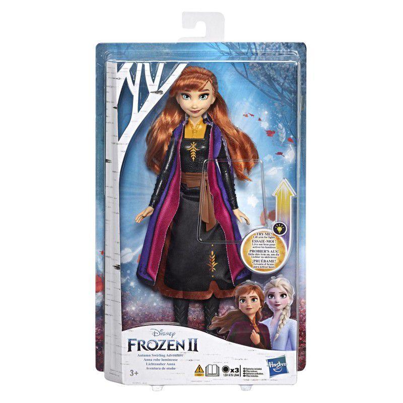 Frozen 2 - Boneca Anna Vestido Magico que Brilha E7001 - Hasbro E6952