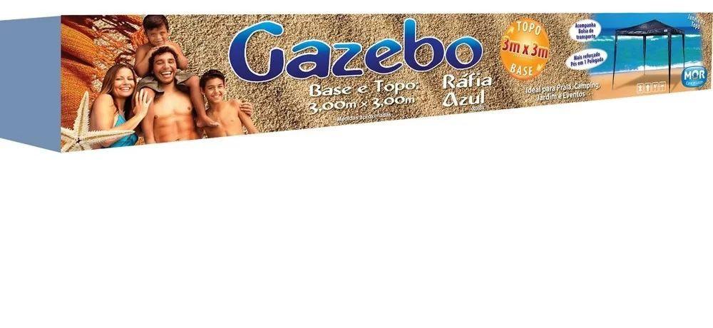 Gazebo Ráfia Azul 3,00m Mor