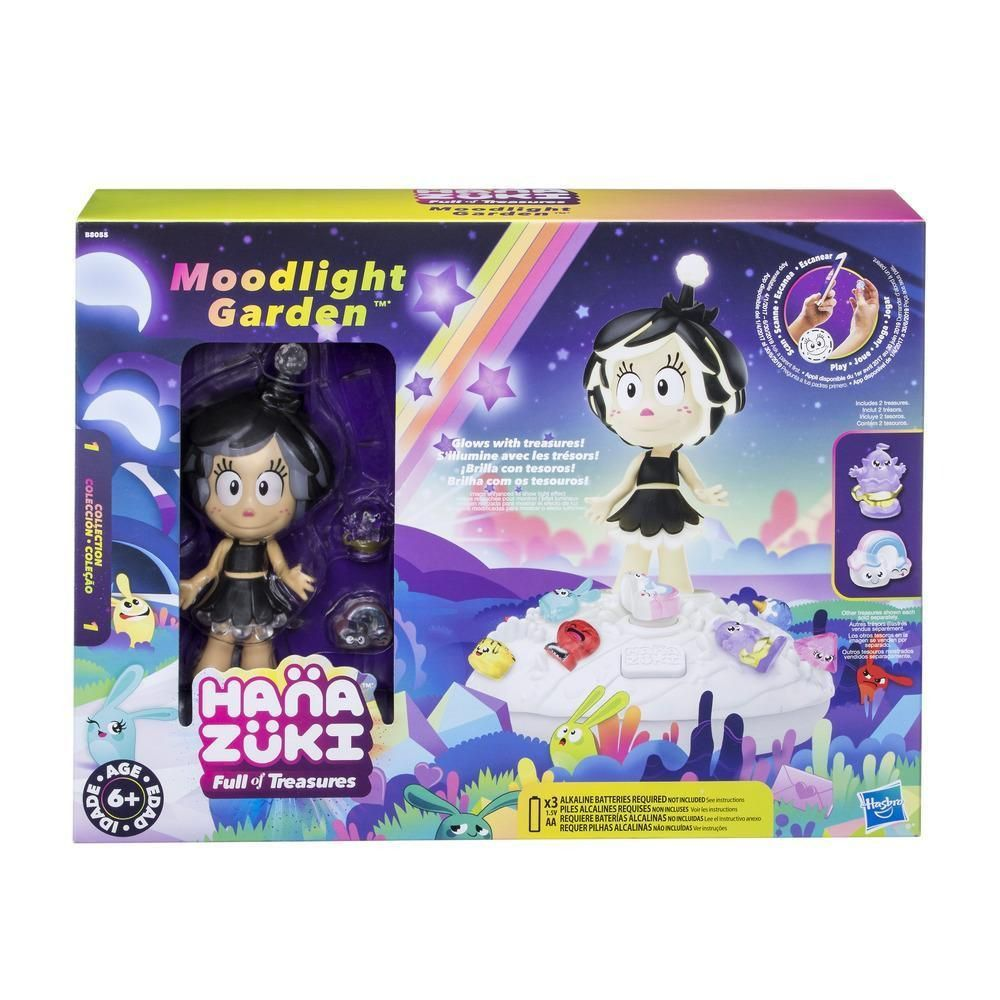 Hanazuki Playset Com Mini Boneca Jardim da Meia Noite  e Tesouros do Humor  - Hasbro