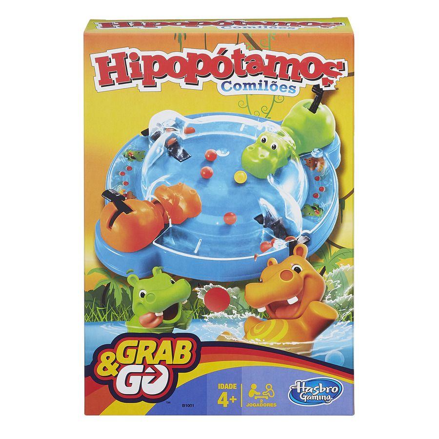 Jogo Hipopótamo Comilão Grab & Go B1001 - Hasbro