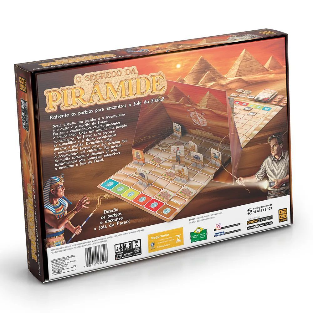 Jogo o Segredo da Pirâmide - Jogos Grow
