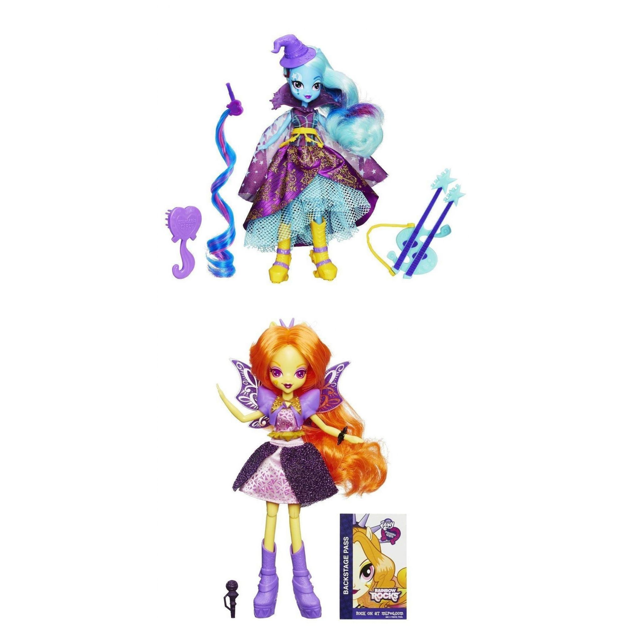 Kit 2 Bonecas My Little Pony Equestria Trixie e Adagio - Hasbro