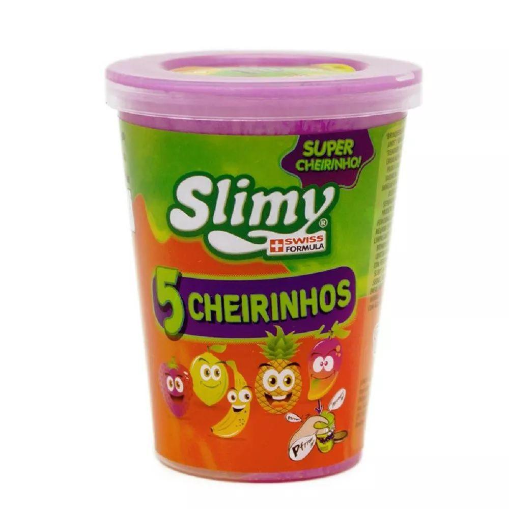 slime Kit 4 Unidades Slimy Cheirinho de Frutas Sortidos - Toyng