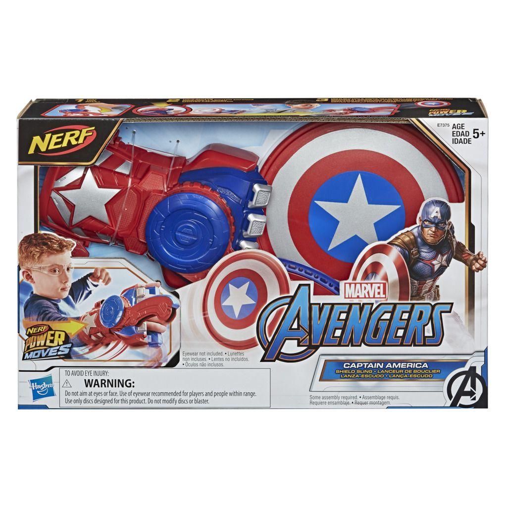 Lançador Nerf Capitao America Power Moves E7375 - Hasbro