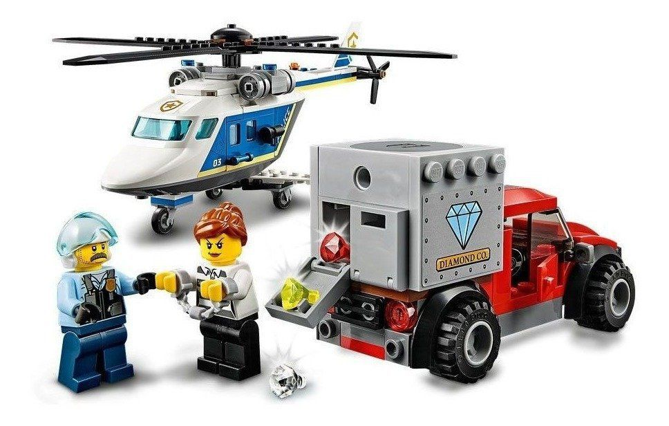 LEGO City - Perseguição Policial de Helicóptero - Lego 60243