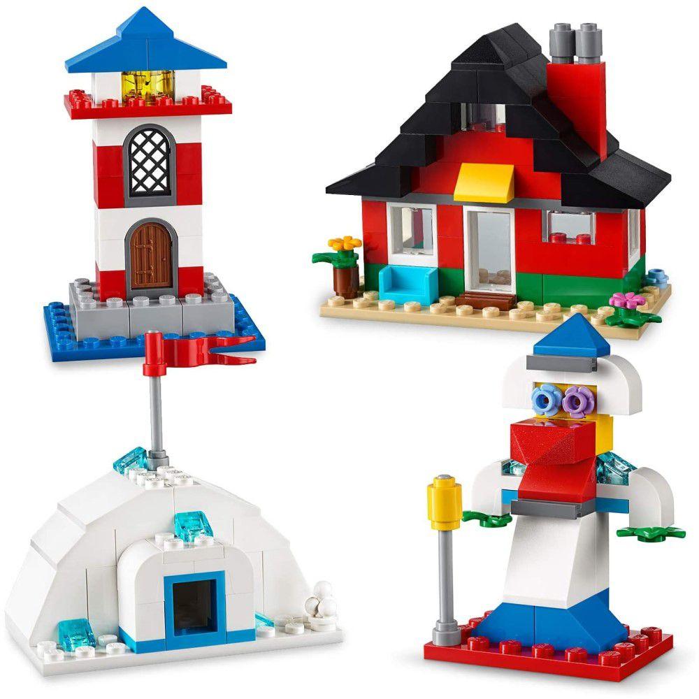 LEGO Classic - Blocos e Casas Com 270 Peças Criativas - Lego 11008