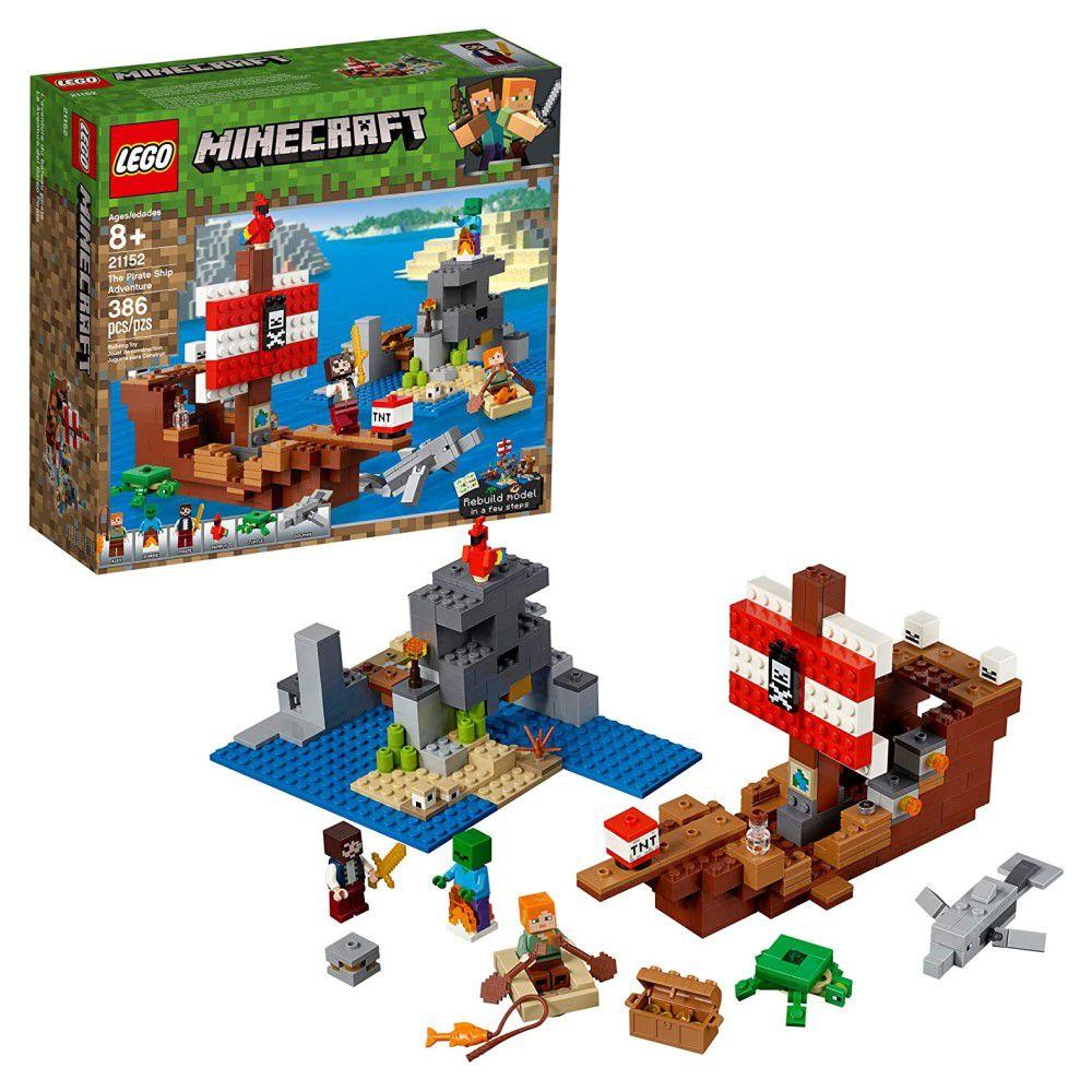 LEGO Minecraft - A Aventura do Barco Pirata - Lego 21152
