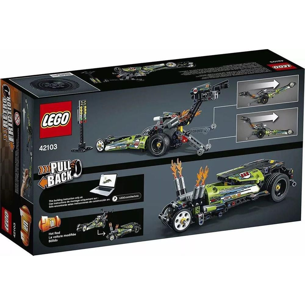 Lego Technic - Dragster 2 em 1 - Lego 42103