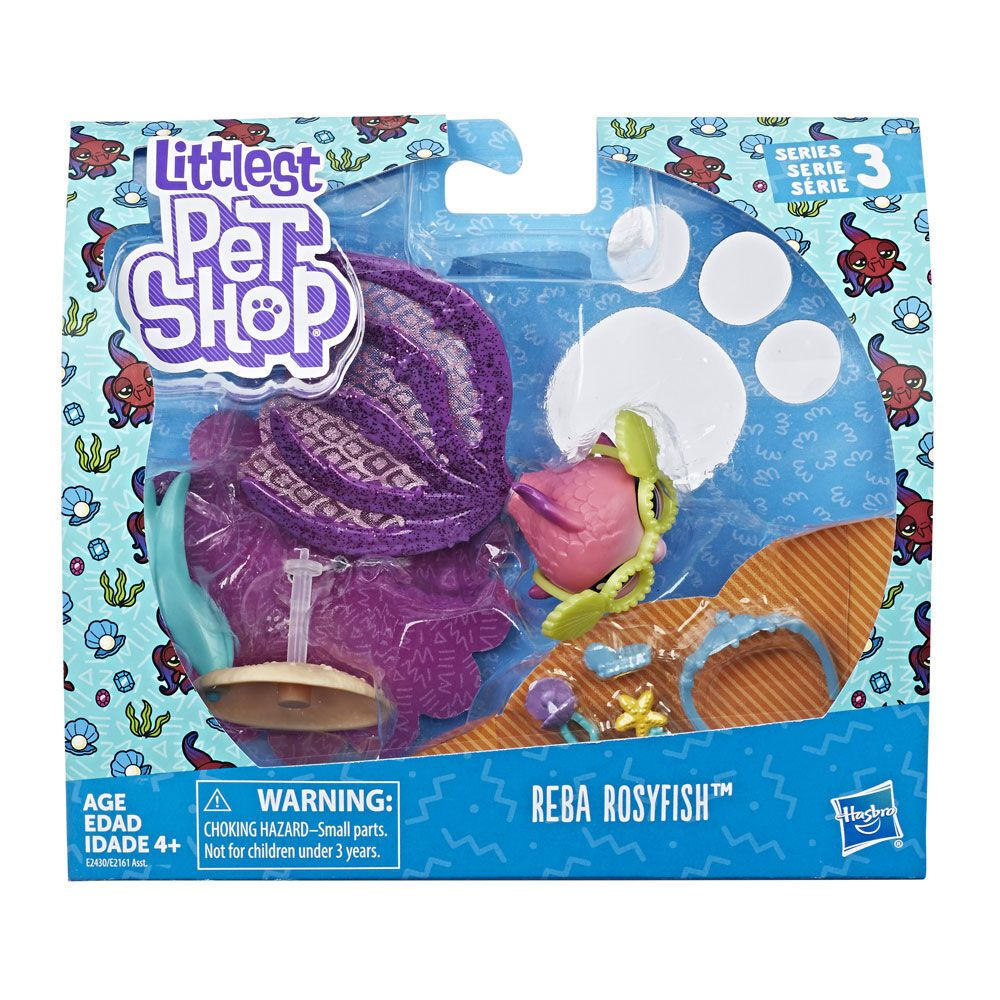 Littlest Pet Shop Peixinho Reba Rosyfish E2430 - Hasbro E2161