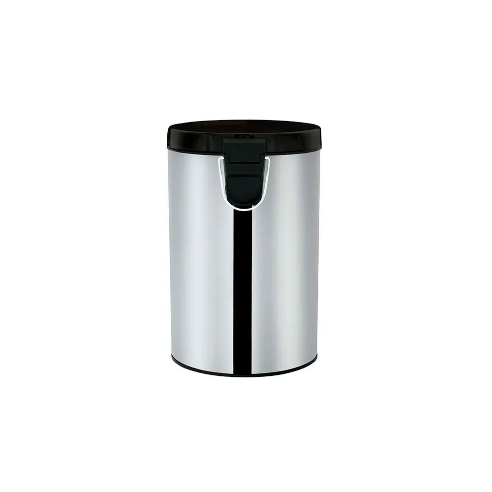 Lixeira 3 Litros Inox Linha Quartzo Com Pedal e Cesto Removível Pack 2 Unidades - Mor
