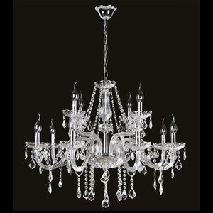 Lustre de Cristal para 12 Lâmpadas Maria Thereza Transparente - Arquitetizze