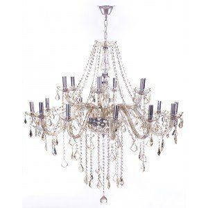Lustre de Cristal para 18 Lâmpadas Maria Thereza Champagne - Arquitetizze